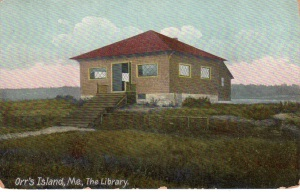A 1912 postcard of the Library.