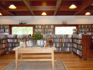 The Sue Fisher Morin Memorial Reading Room, our rejuvenated front room.