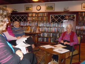 Polly Kaufman from Cundy's Harbor delighted a room full of attendees with her statistical and informative presentation of the early Harpswell school system. Many of those in attendance who attended Harpswell schools into the 1950's told of both their heartbreaking and hilarious experiences.