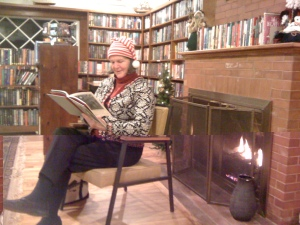 At the December 4th, First Thursday event, Beth Muldoon, S. Harpswell resident read three Christmas stories from: Truman Capote, Robert P. Tristram Coffin, and Clement Clark Moore.