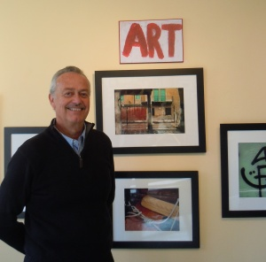 Steve Black with some of his artwork.